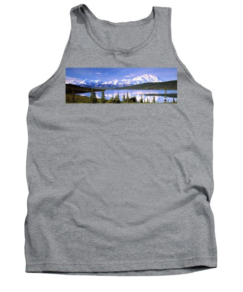 Snow Covered Mountains, Mountain Range Tank Top