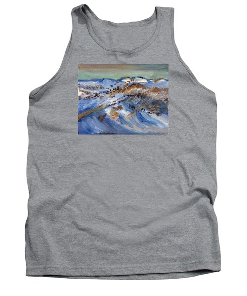 Snow Covered Sand Dunes Of Cape Cod Tank Top