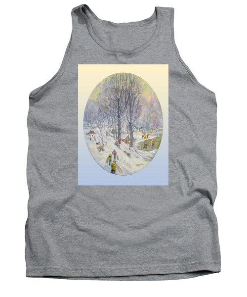 Tank Top featuring the painting Snow Day by Donna Tucker
