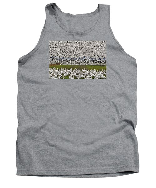 Tank Top featuring the photograph Snow Geese By The Thousands by Valerie Garner