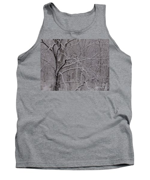 Snow In The Trees At Bulls Island Tank Top
