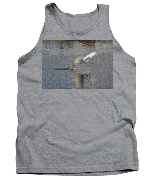 Tank Top featuring the photograph Snowy Egret Wind Sailing by John M Bailey