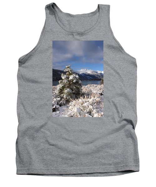 Snowy Pine  Tank Top by Duncan Selby