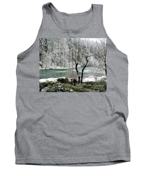 Snowy River And Bank Tank Top by Belinda Greb