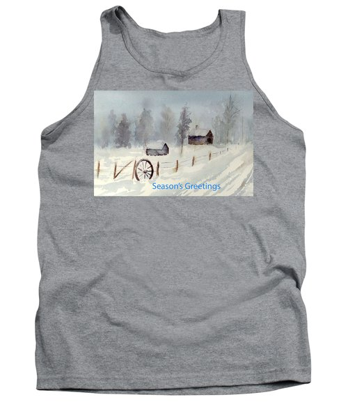 Snowy Road Tank Top by Christine Lathrop