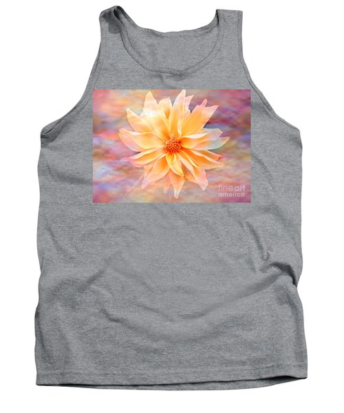 Tank Top featuring the photograph Soft Delightful Dahlia by Judy Palkimas