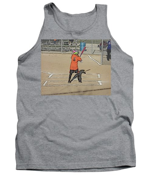 Tank Top featuring the photograph Softball Star by Michael Porchik