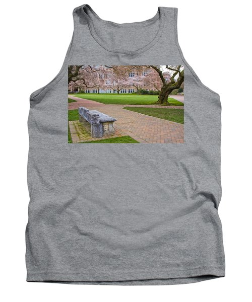 Tank Top featuring the photograph Solitary Bench by Sonya Lang