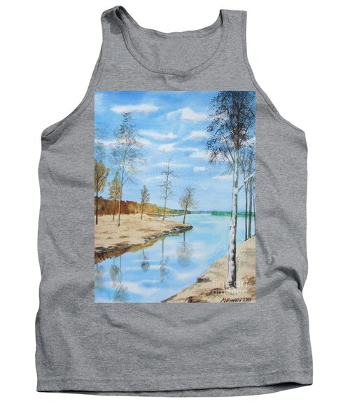 Tank Top featuring the painting Somewhere In Dalarna by Martin Howard