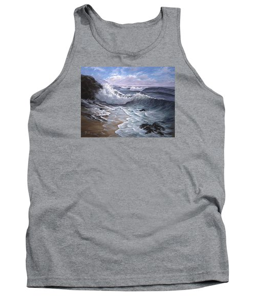 Sounding Waves At Big Sur Tank Top