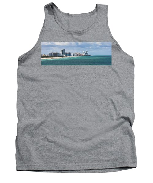 South Beach On A Summer Day Tank Top