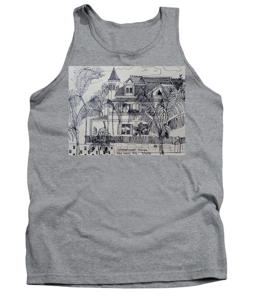 Southernmost House  Key West Florida Tank Top by Diane Pape