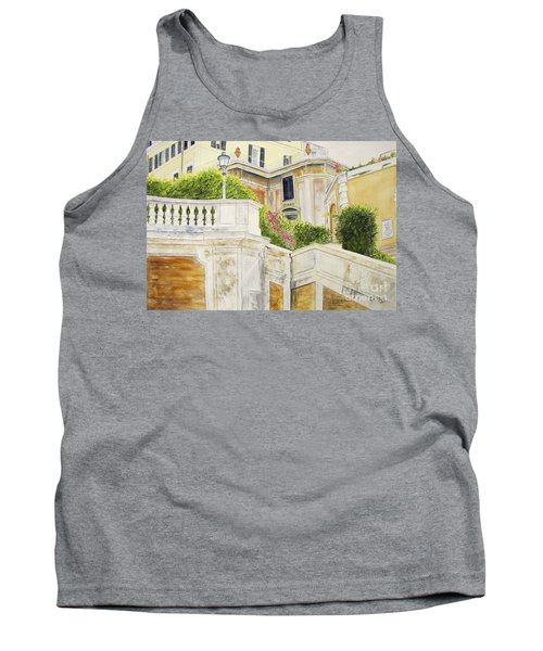 Tank Top featuring the painting Spanish Steps by Carol Flagg