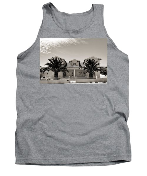 Spanish Village With Palm Trees Tank Top
