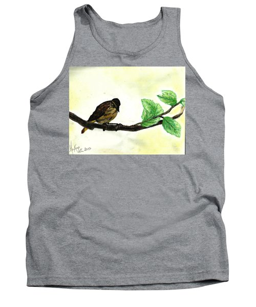 Sparrow On A Branch Tank Top