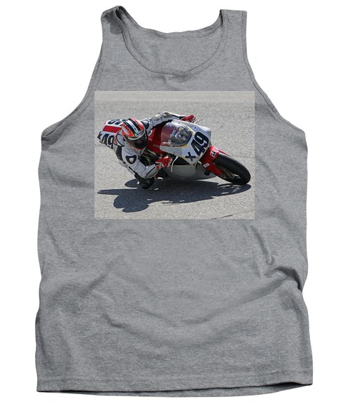 Tank Top featuring the pyrography Speed In The Corner by Shoal Hollingsworth