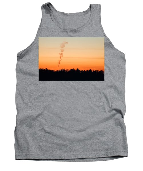 Spiral Cloud At Sunset Tank Top