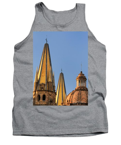 Spires And Dome - Cathedral Of Guadalajara Mexico Tank Top by David Perry Lawrence
