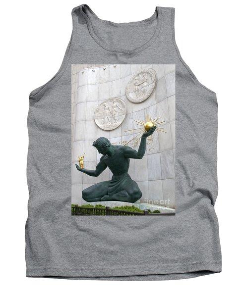 Spirit Of Detroit Monument Tank Top by Ann Horn
