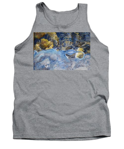 Tank Top featuring the photograph Spring Drawing A Line In The Ice  by Brian Boyle