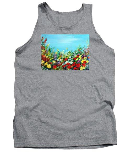 Spring In The Garden Tank Top by Teresa Wegrzyn