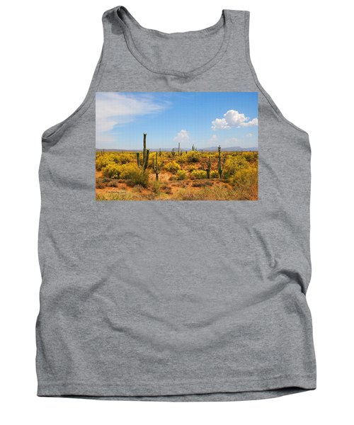 Tank Top featuring the digital art Spring Time On The Rolls. by Tom Janca