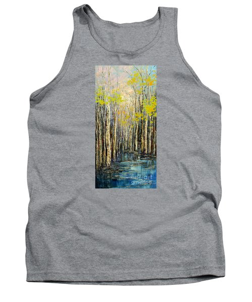 Tank Top featuring the painting Spring Wind by Tatiana Iliina