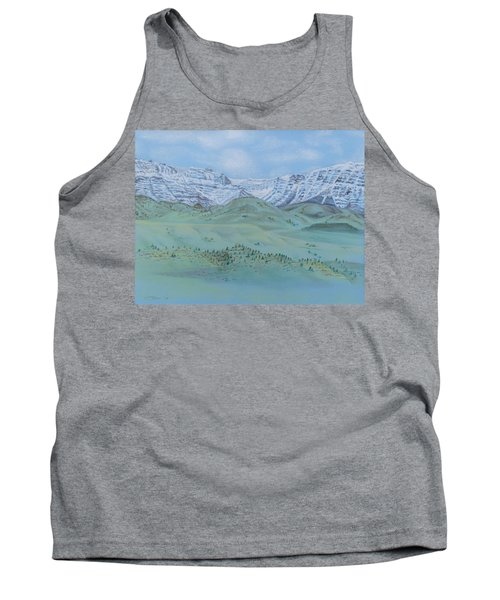 Tank Top featuring the pastel Springtime In The Rockies by Michele Myers