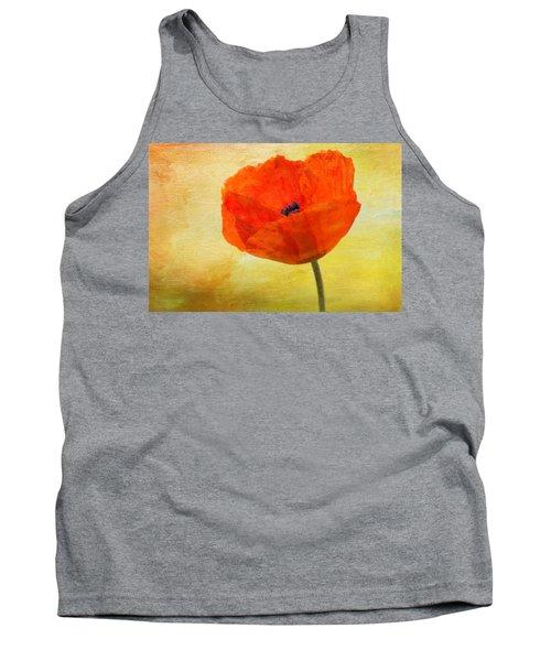 Springtime Poppy Beauty Tank Top by Denyse Duhaime