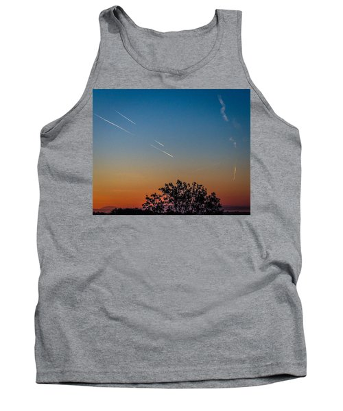 Squadron Of Jet Trails Over Ireland Tank Top