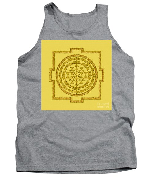 Sri Yantra In Gold Tank Top