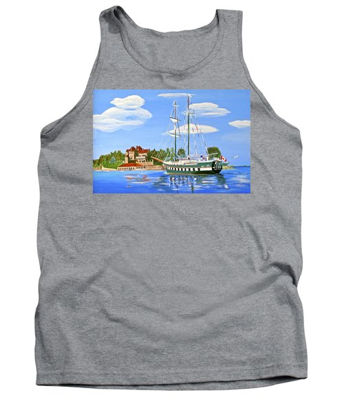 Tank Top featuring the painting St Lawrence Waterway 1000 Islands by Phyllis Kaltenbach
