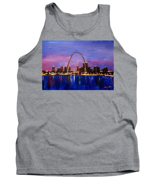 St. Louis Gateway Arch At Sunset Tank Top