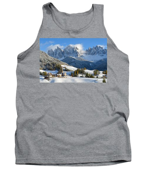 St. Magdalena Village In The Snow In Winter Tank Top