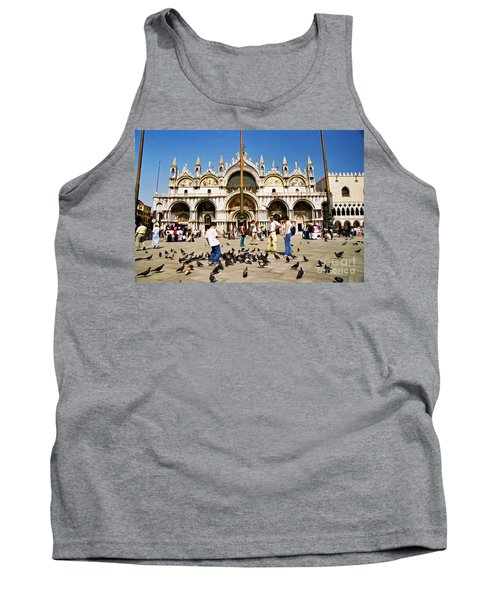 Tank Top featuring the photograph St. Mark's Basilica  by Allen Beatty