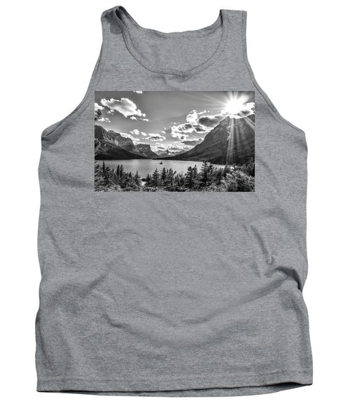 St. Mary Lake Bw Tank Top by Aaron Aldrich