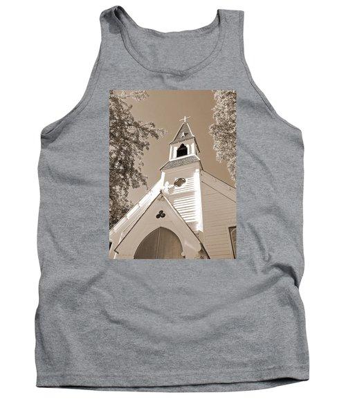 St. Paul's Church Port Townsend In Sepia Tank Top