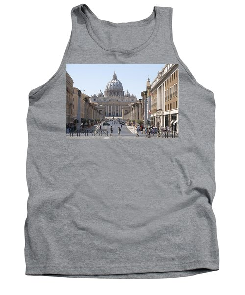 St Peter Basilica Viewed From Via Della Conciliazione. Rome Tank Top