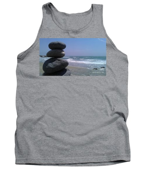 Tank Top featuring the photograph Stacked Rocks by Chris Tarpening