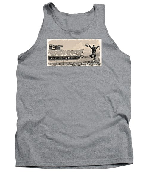 Stadium Cheer Black And White Tank Top