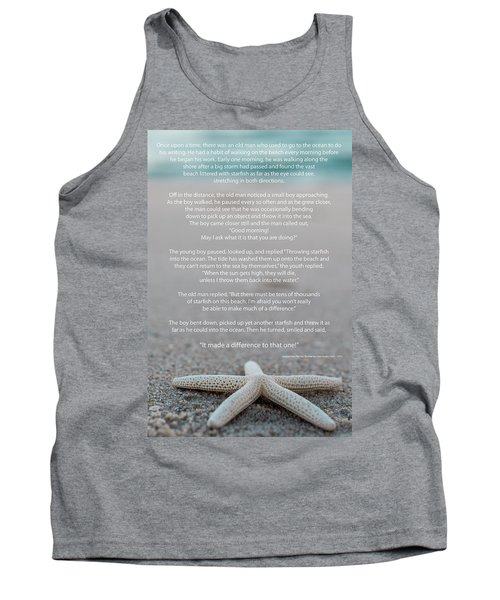 Starfish Make A Difference  Tank Top