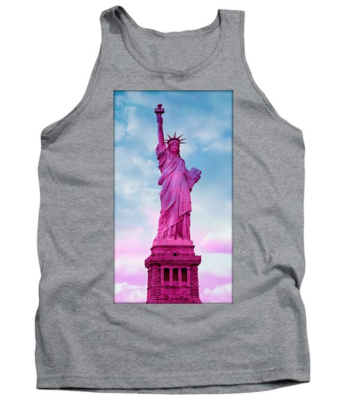 Statue Of Liberty - Pink Tank Top