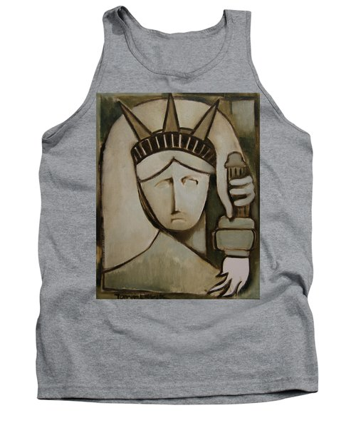 Tommervik Abstract Statue Of Liberty Art Print Tank Top