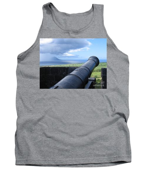 Tank Top featuring the photograph St.kitts Nevis - On Guard by HEVi FineArt