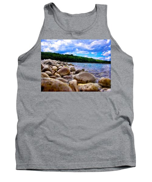 Stone Beach Tank Top by Zafer Gurel