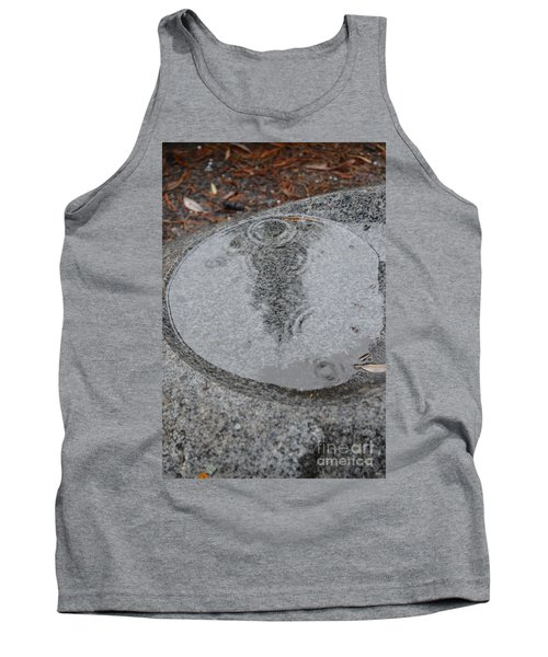 Tank Top featuring the photograph Stone Pool Angel by Brian Boyle