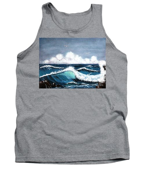 Storm At Sea Tank Top