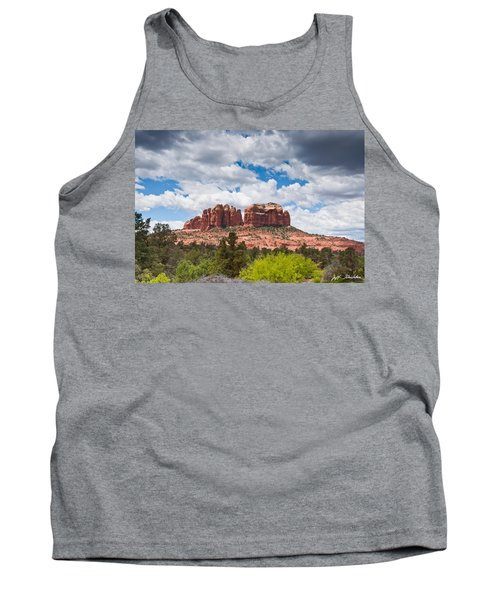 Tank Top featuring the photograph Storm Clouds Over Cathedral Rocks by Jeff Goulden