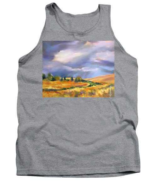 Tank Top featuring the painting Storm Colors by Rae Andrews