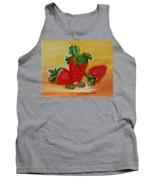 Strawberry Delight Tank Top by Johanna Bruwer